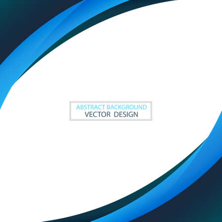 Abstract web template black and blue lines on white background - Vector illustration