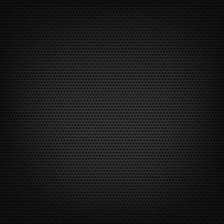 Material perforated metal dark background texture - Vector illustration