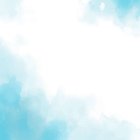 Realistic blue watercolor panoramic texture on white background - Vector illustration Vettoriali