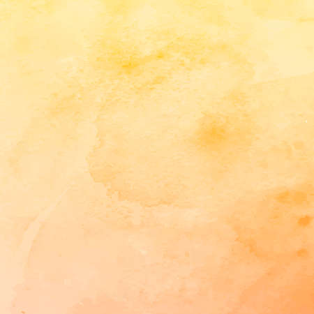 Realistic yellow-orange watercolor panoramic texture on a white background - Vector illustration