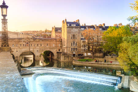 Historical site of Bath, England