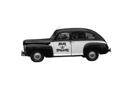 twentieth: The old police car the middle of the twentieth century