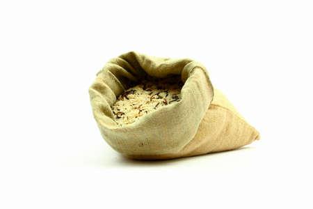 plainness: rice with bag