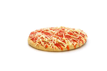 A frozen pizza on a white background Stock Photo - 77823503