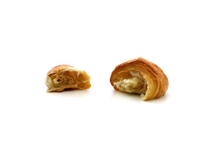 A croissant on a white background Stock Photo