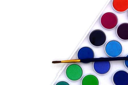 Tuff box on white background with paintbrush