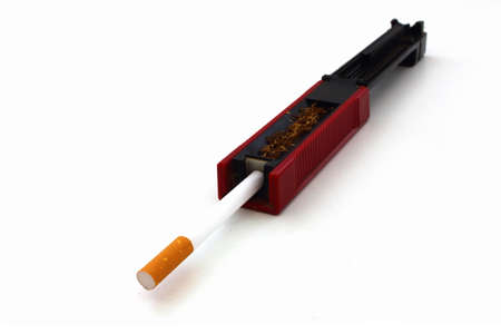 plugger: A cigarette stopper on white background Stock Photo