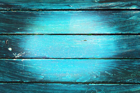 A painted wooden wall from above Stock Photo