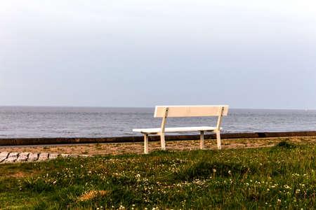 Bank at sea at dusk
