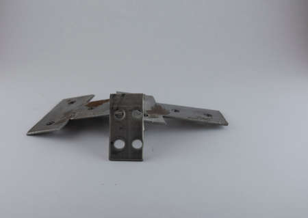 I and T shaped sheet metal parts for wooden furniture