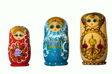 Colorful wooden nesting dolls