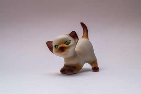 セラミックの猫 写真素材