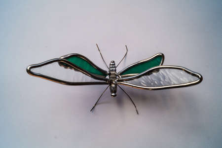Dragonfly glass and metal Imagens