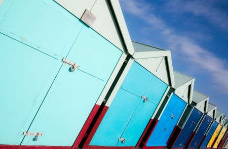 brighton beach: Nice color small  pantry near the sea