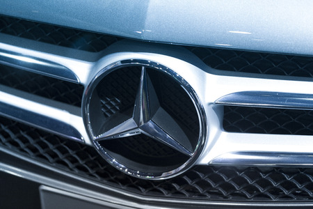 Mercedes Benz Sign Close-Up