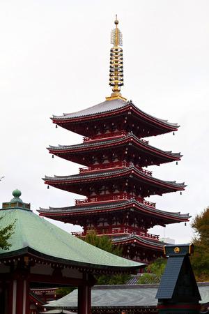 Pagoda at Sensoji Asakusa Temple