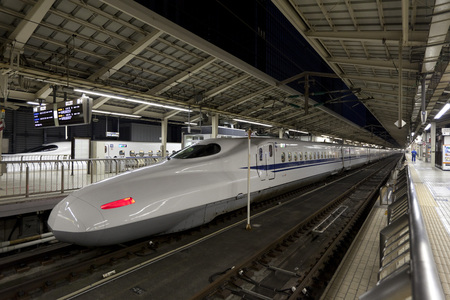 Shinkansen bullet train at Tokyo railway station