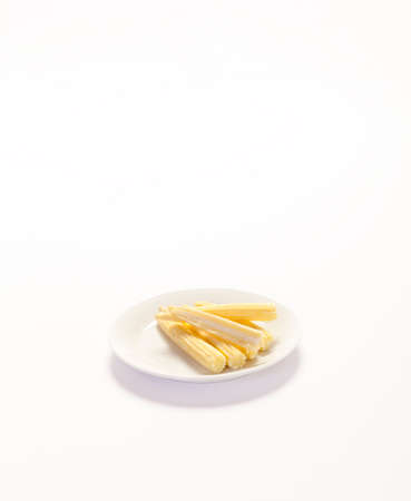 baby corn: Baby corn on a white background