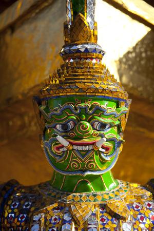 grand pa: guardian statue (yak) at the phra keaw temple in bangkok,Thailand Stock Photo