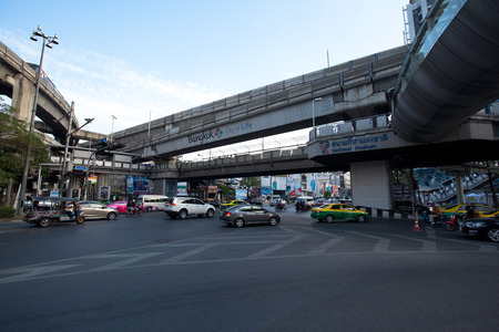 junction: Pathumwan junction  in Bangkok, Thailand. Editorial