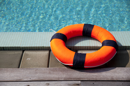 lifebelt at the pool Stock fotó
