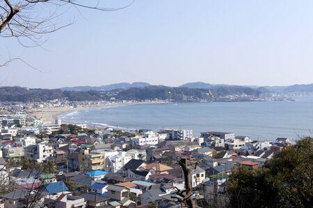 honshu: Busy Yuigahama Beach near Kamakura, Honshu - Japan