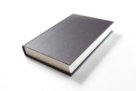 book with blank black cover photo