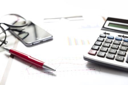 Financiële boekhouding beurs grafieken analyse Stockfoto