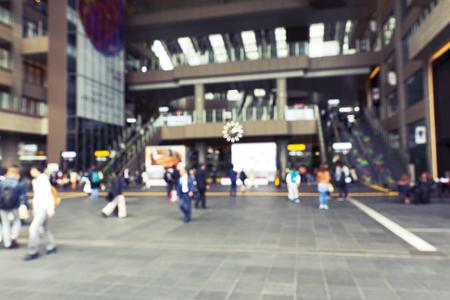 blur train station photo