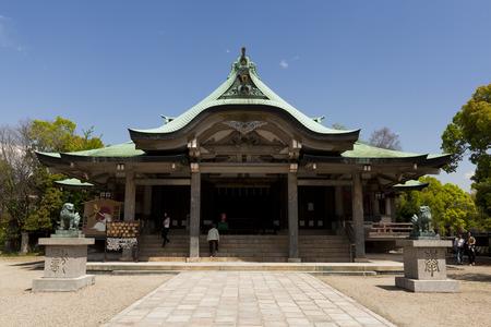 osakajo: Hokoku shrine in Osaka Japan