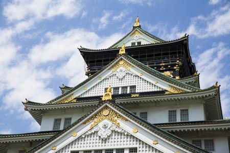 osakajo: Osaka Castle on the hillside