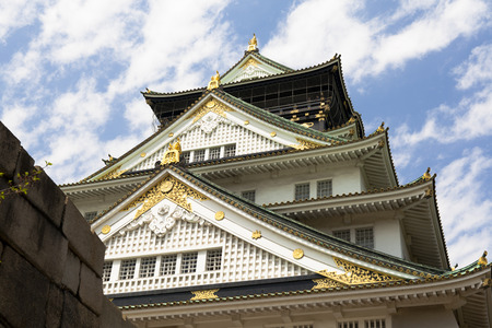 hillside: Osaka Castle on the hillside