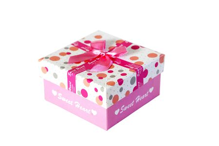 Beautiful present box with bow