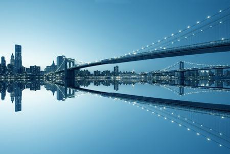 뉴욕시 맨해튼의 스카이 라인 파노라마
