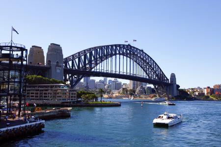 Sydney, Australië Harbour brug Redactioneel