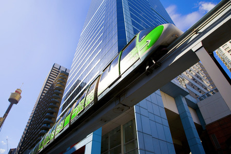 monorail in Darling Harbour area of Sydney Stock fotó