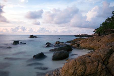 shoreline: shoreline at beach, waves, beach Stock Photo
