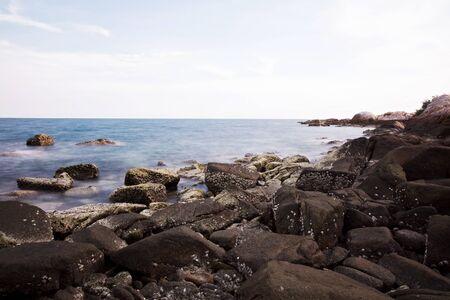 shoreline: l�nea de la playa en la playa, olas, playa Foto de archivo