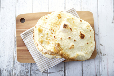 Indian Naan Flatbread made with Whole Wheat