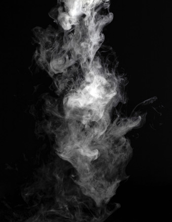 black smoke: Smoke fragments on a black background