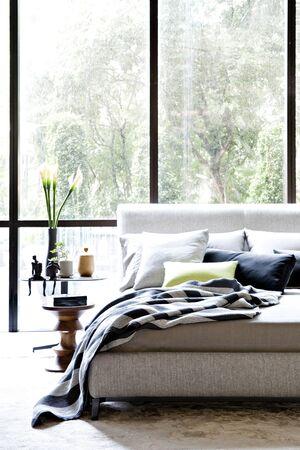 bedsheets: modern bedroom
