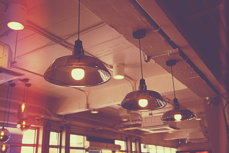 lamp hanging in shop