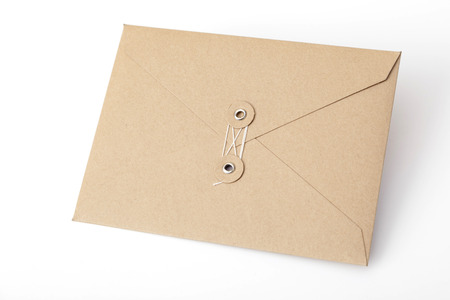 envelope: brown envelope isolated on the white background Stock Photo