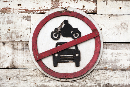 not allowed: car and motorbike not allowed sign