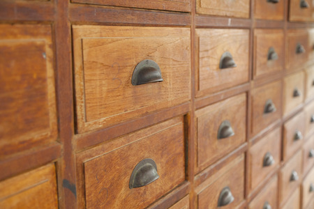 apothecary: close-up of a very old apothecary cabinet