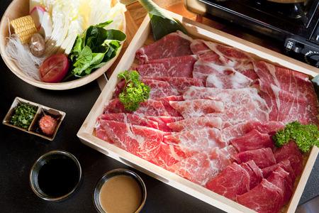rundvlees slice voor shabu Stockfoto