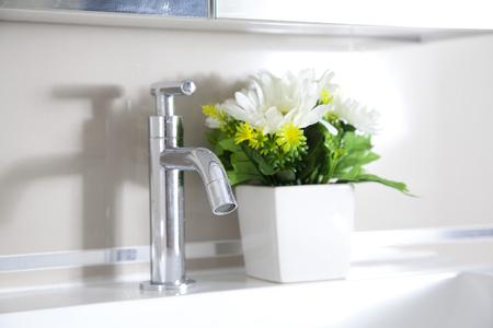 Close Up of Modern Bathroom Sink