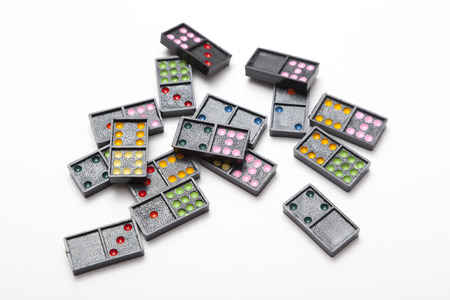 Pile of colorful dominoes