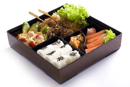 Bento box isolated on white background