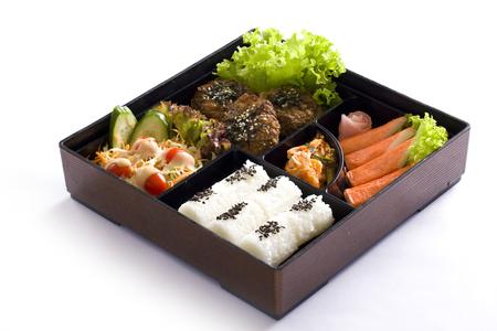 bento box: Bento box isolated on white background